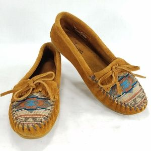Minnetonka Womens Slip On Loafers Moc Suede Shoes